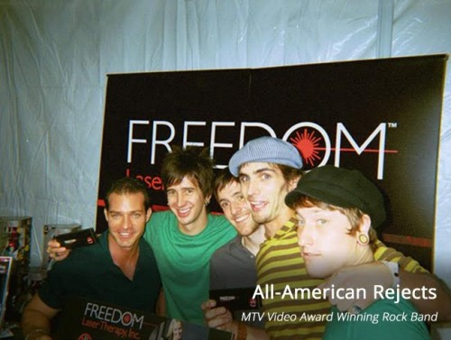 All-American_Rejects_freedom_laser_therapy