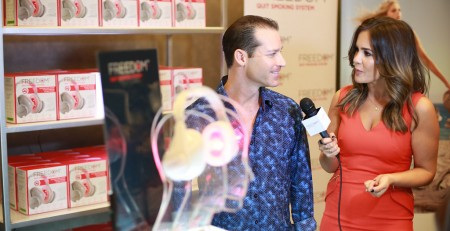 Craig Nabat at GBK Golden Globes gifting suite iRestore Freedom Laser Therapy Quit Smoking