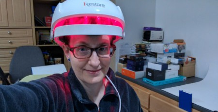 Julie from the Gadgeteer uses iRestore Hair Growth System